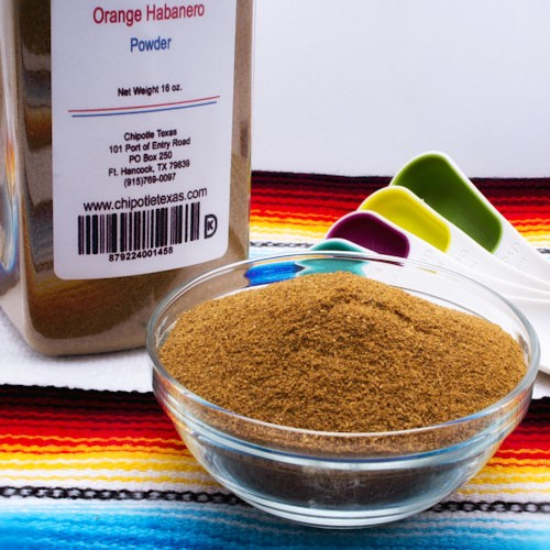 Orange Habanero Powder – 2 oz | Chipotle Texas
